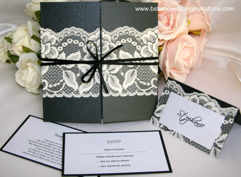Wedding Invitation Lace: B Studio Wedding Invitations