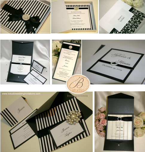 Black and White Wedding Invitations B Studio Wedding Invitations – Studio Cards Wedding Invitations