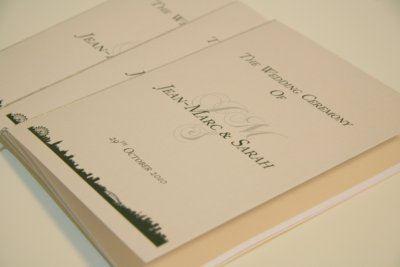 custom_made_cream_lilac_order_of_service_booklets