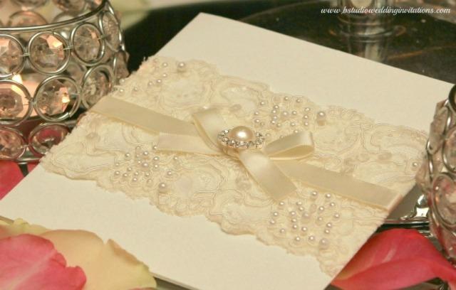 "Vintage Glam Wedding Invitations: 'Vintage Glamour"" In Ivory"