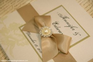 "NEW handmade invitation- ""Charmed by Love"""