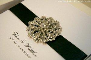 "NEW handmade invitation- ""Grandeur"""