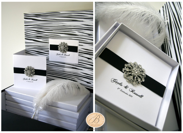 Grandeur Luxury Wedding Invitation Set for Gaela and Russell