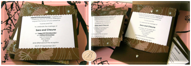 Love Garden Invitation Set for Sara and Cheyne