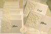 Vintage Cream Ivory Place cards- Gloria & Leigh