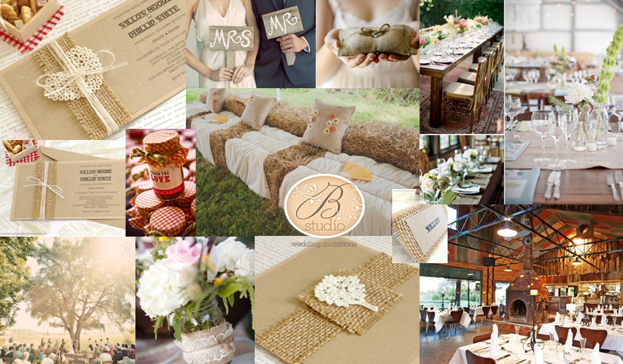 Rustic country wedding inspiration board-B Studio Wedding Invitations