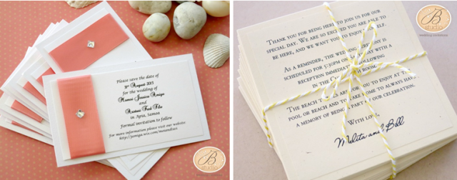 Destination Beach Wedding collage- B Studio Wedding Invitations