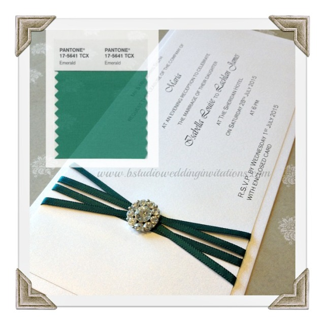 Emerald Invitation-limited edition by B Studio-collage