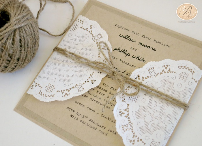 Doily B Studio Wedding Invitations