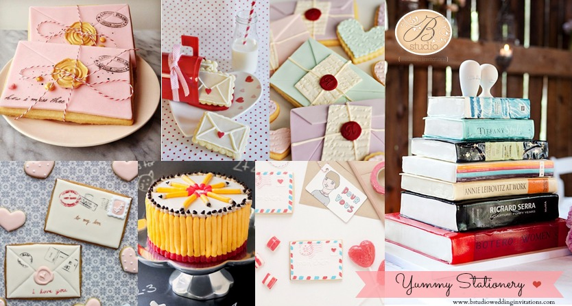 Yummy Edible Stationery Im in heaven B Studio Wedding