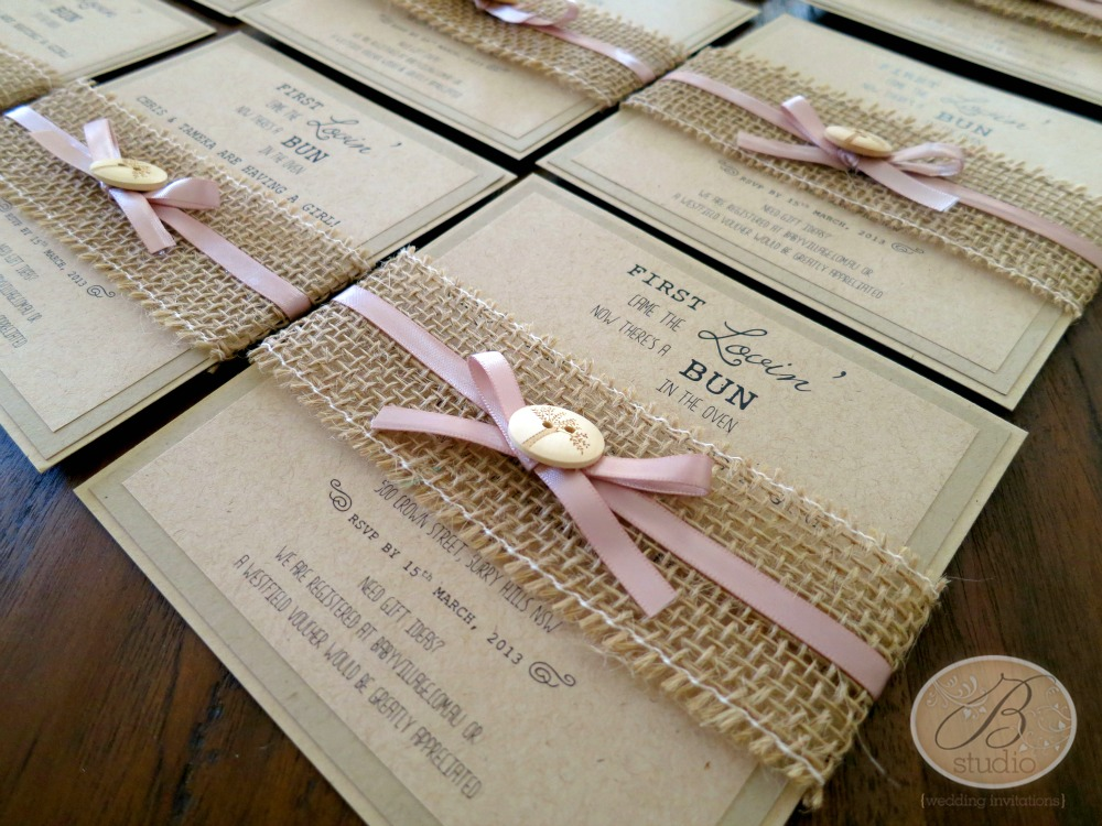 rustic themed baby shower invitations more