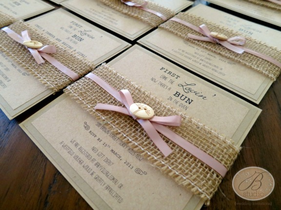 Rustic Romance- Baby Shower invitations