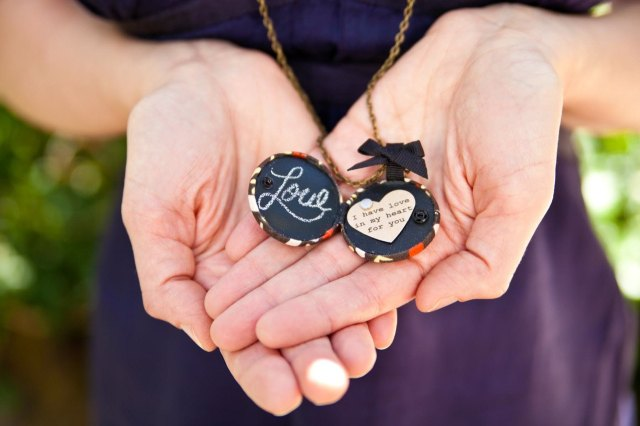 Chalkboard locket by Zelma Rose Jewelry