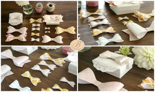 Pretty Paper Bow Project 2- B Studio Wedding Invitations