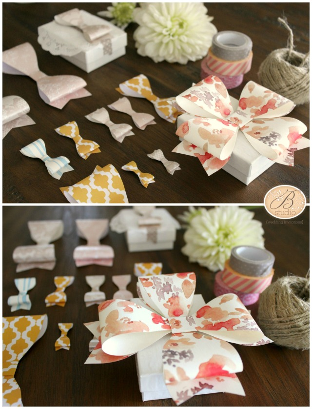 Pretty Paper Bow Project- B Studio Wedding Invitations