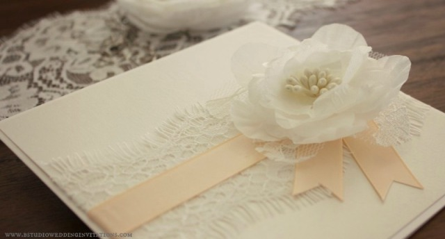 Lace & Petals Series by 'B Studio Wedding Invitations'