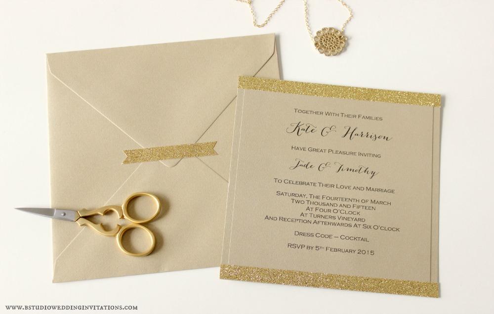 card – B Studio Wedding Invitations - Style Blog