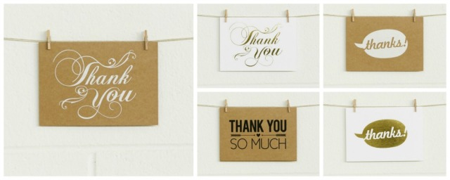 Metallic & Matte Foiled Thank You Card Sets