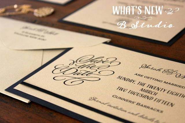 What's New at B Studio Wedding Invitations