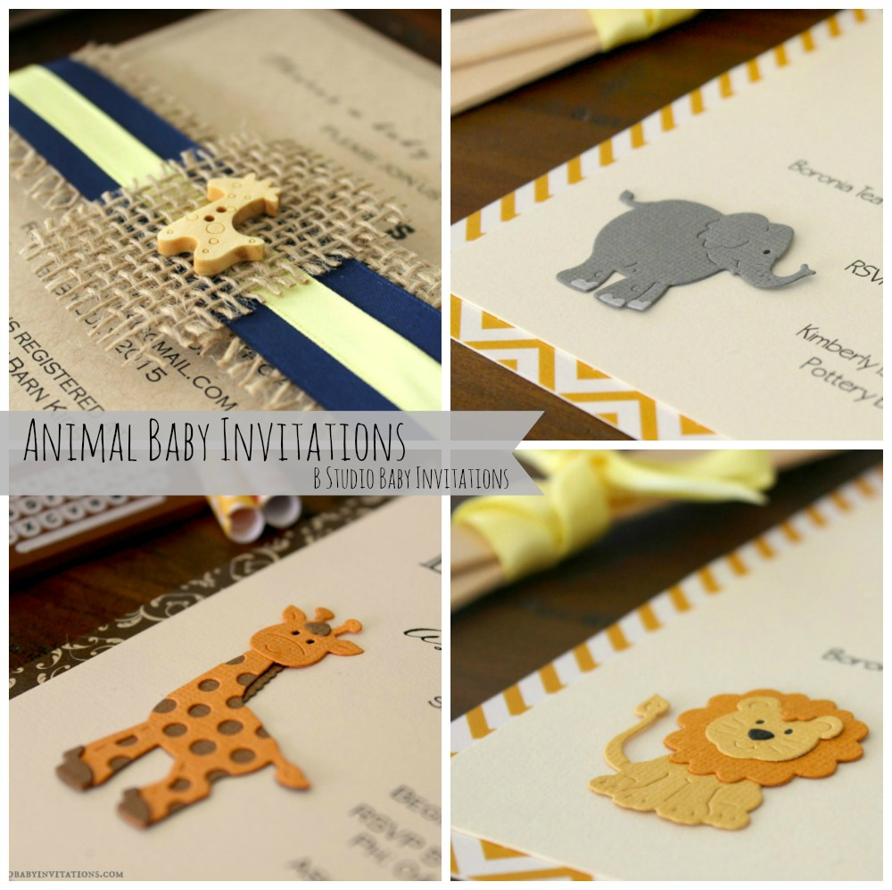 Rustic Themed Baby Shower Invitations More B Studio Wedding - Animal baby shower invitations templates