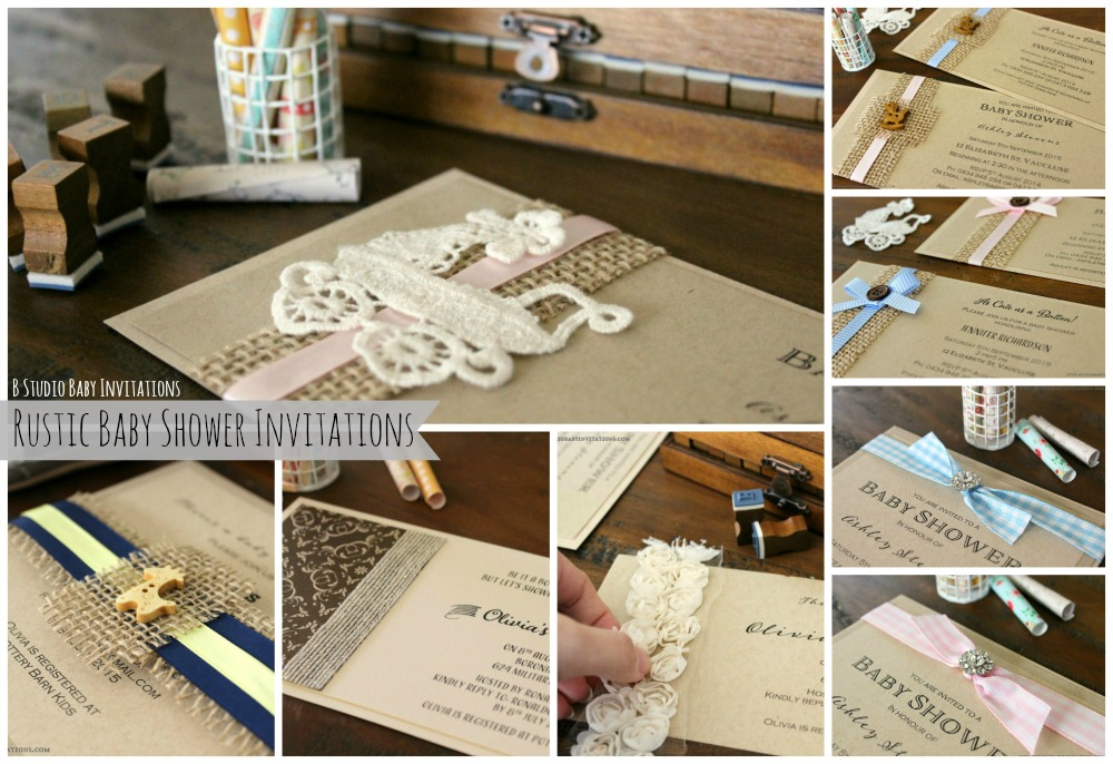 rustic baby shower invitations by b studio baby invitations