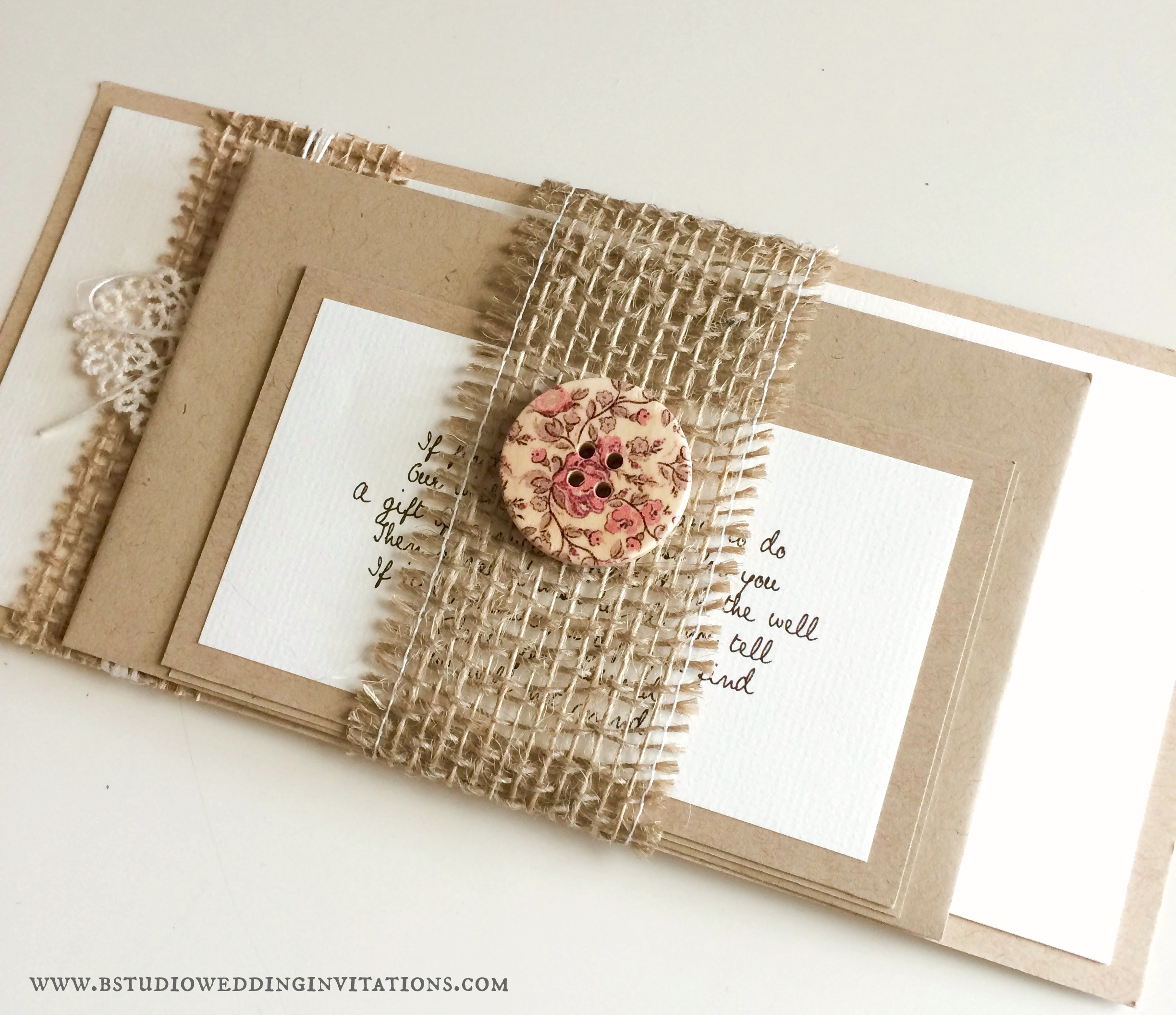 B Studio Wedding Invitations - Style Blog
